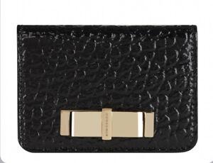 Burberry Bow Patent Grain Leather Logo Purse Wallet case RRP$355