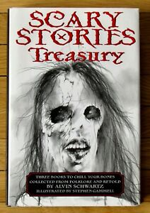 THE SCARY STORIES TREASURY Alvin Schwartz Gammell to Tell in Dark More & 3 HB L1