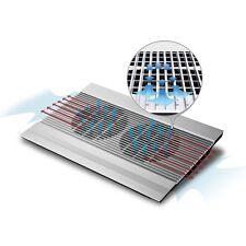 """Deepcool N8 Silver Aluminium Notebook Cooler Up To 17"""" Dual 140mm fans 4 USB"""