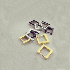 Triangle Square Rhombus Heart titanium steel Men Women eardrop Dangler Earrings