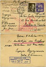 WW2 OCCUPIED POLAND SILESIA STATIONERY MISSING PERSON CENSORED NAVAL HQ LONDON