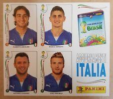 PANINI FIFA WM 2014 Brasil - Sondersticker (4er-Bogen; Italien)