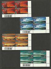 New Zealand 1998 Scenic Skies - FDC & barcode corner blocks - MNH