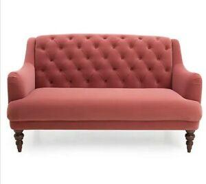 2 Seater Velvet Sofa Rose