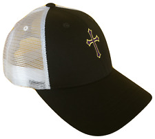 Black & White Christian Cross Mesh Golf Cap Hat Caps Hats God Jesus Purple Gold