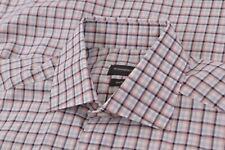 NWT Ermenegildo Zegna Size Small Dress Shirt Traveller White Multicolor Current