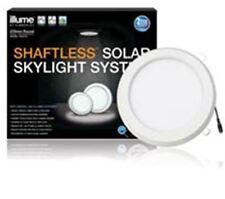ILLUME SKYLIGHT SYSTEM KIT ROUND 270MM SOLAR PANEL LIGHT WITH WHITE FRAME