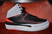 Nike Air Jordan Retro 2 Size 8 Black Infrared Platinum White Cement 385475-023