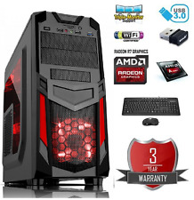 ULTRA VELOCE Quad Core 4.2Ghz 16GB 1TB Desktop AMD RADEON R7 Gaming PC Computer
