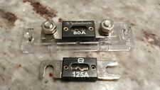 Scosche X2Wfh Anl Fuse Holder with 80 and 125A fuses
