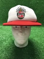 Vintage Becks Beer SnapBack Trucker Red White Mesh Hat Cap Fast Ship