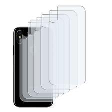 6 x Klar Schutzfolie Rückseite iPhone XR Crystal Clear Hinten Back Folie