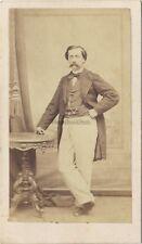 Portrait d'un homme Pose 1 Second Empire Cdv Vintage Albumine ca 1860