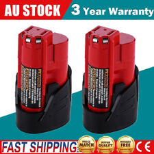 2x 12V M12 M12B M12B2 C12B Battery for Milwaukee Red Lithium Ion Battery Tool AU
