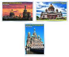 SAINT PETERSBURG RUSSIA SET OF 3 FRIDGE MAGNET SOUVENIR IMANES NEVERA