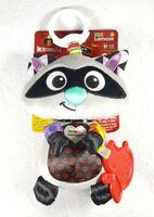 NWT Lamaze Disney/Pixar Clip & Go, Raccoon Clip-On Stroller Toy - Free Shipping!
