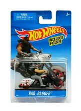 Hot Wheels Moto Noir Et Blanc Bad Bagger Avec Figurine - Mattel - Motorcycle