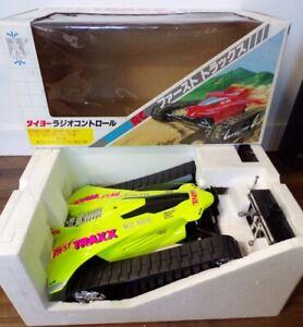 Vintage 1990's Taiyo Japan R/C Yellow Fast Traxx 9.6V Turbo NMIB Tyco Nikko