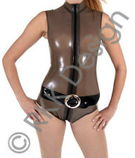 Small Semi-Transparent Dark Charcoal Rubber Body / Top Catsuit Style