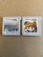 Nintendo 3DS Paquete De Juegos: Super Mario 3D Land & Mariokart 7 3ds Xl 2ds Genuino