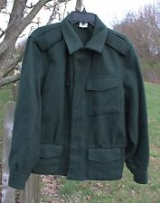 VTG Wool Loden Green Finnish Finland Military Hunting Coat Mens Size Small