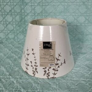 J. Hunt & Company Accent Cream Fabric Lamp Shade With leafy design