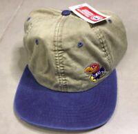 NWT Vtg 90's Kansas University KU Jayhawks NCAA Snapback Cap Hat Vintage Logo