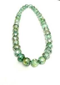 Best quality 114 ct Green Diamond Beads Necklace 18 inch 5-6 mm with Certified