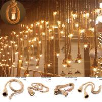 d'intérieur corde en chanvre lustre plafond rétro de lumière For E27 Lamp