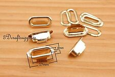 eyelets copper with washer grommets light gold oval 20 sets 12 mm CK54
