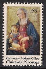 Scott 1579- Madonna & Child by Ghirlandaio, Christmas- MNH 10c 1975- unused mint
