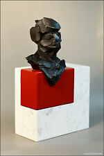 HERCYN I , bronze sculpture, marble and patinated bronze.Konrad Ziolkowski