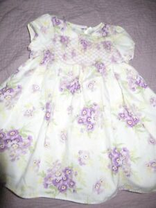 nwot Janie and Jack lavender floral smocked dress baby girls 3 m 6 m