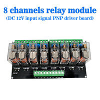 Omron 8 Relay Module Eight Panels Driver Board Module DC 12V PNP