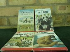 vintage 4 Ladybird books Animals , The Zoo , apes and monkeys , living things