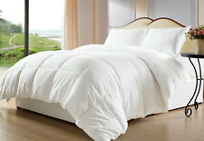 Home Linen Down Alternative Comforter 200 GSM White Solid Cal King Size