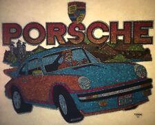 Original Porsche Carrera Turbo Iron On Transfer German Full Glitter Last One