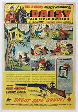 1947 Daisy Air Rifle Owners Safety Message ad page ~ RED RYDER COWBOY CARBINE