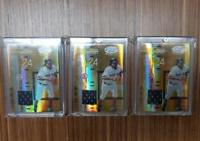 LOT 3 2005 MANNY RAMIREZ LEAF CERTIFIED MIRROR GOLD MARBLE GAME USED JERSEY /25