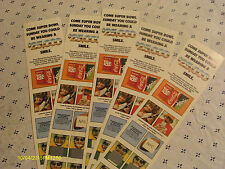 Lot Of 5 1979 Coca Cola Super Bowl Contest Cards