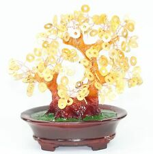 Feng Shui Gold Coins Money Tree Home Decor Wealth Blessing Gift US Seller