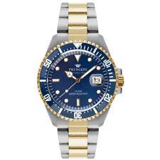orologio Pryngeps Uomo submariner 40 mm corona vite acciaio bicolore ghiera blu