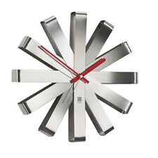 "Umbra 12"" Ribbon Brushed Stainless Steel Wall Clock 118070-590"