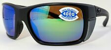 Costa del Mar Rooster Sunglasses Blackout / Green Mirror 400G GLASS Lens!