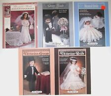 Victorian Wedding Dress Crochet Doll Clothing Patterns Lot Bride and Groom plus