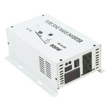 Power Inverter 800W Pure Sine Wave Inverter 12/24/48V to 120/220V Solar System