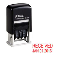 NEW Shiny S303 Small Self Inking Rubber Date Stamp (RECEIVED) - Red Ink