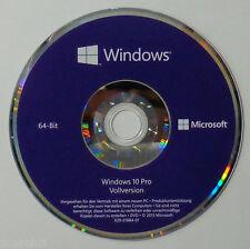 MS Windows 10 Professional Dauerhafte Vollversion + 64bit DVD Pro LCP DEUTSCH