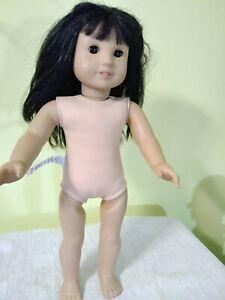 AMERICAN GIRL DOLL Black Long Hair, Dark Brown Eyes.
