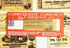 American Civil War 2nd Confederate Replica Currency Money Parchment Banknotes